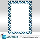 Designpapier Oktoberfest - Weiß-Blau/25 Blatt/DIN A4/90 g-Offsetpapier