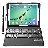 #8: Samsung Galaxy Tab S2 9.7 Keyboard case - IVSO®Ultra-Thin High Quality DETACHABLE Bluetooth Keyboard Stand Case / Cover for Samsung Galaxy Tab S2 9.7 Tablet -With Free Stylus Pen (Black)