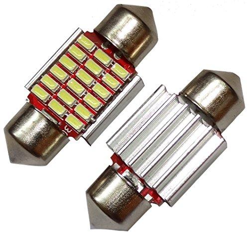 Fach Decken-beleuchtung (Aerzetix - 2 X LED - Birne Lampen C5W 12V 18 LED SMD Xenon-Weiß 31mm Effekt Kennzeichen Shuttles Fach Innenbeleuchtung Decke doorsills Kartenleser Fußstamm Motor)