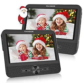 FANGOR-75-Zoll-Auto-DVD-Player-2-Bildschirmen-Tragbarer-Kopfsttzen-Fernseher-Dual-Monitore-5-Stunden-Akku-Synchronisierung-auf-beiden-Bildschirmen-1-Host-1-Slave