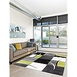 –Moderna alfombra pelo corto Salón Verde Green, verde, 120 x 170 cm