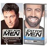 Juego de 2Just For Men de cuidado de tönungs de champú + Barba & Bigote Gel Negro