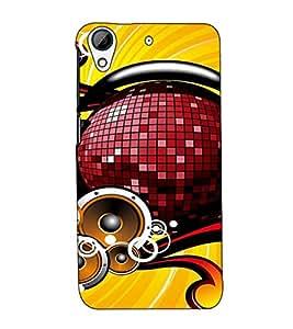 Fuson Designer Back Case Cover for HTC Desire 728 Dual Sim :: HTC Desire 728G Dual Sim (Sound Music Theme)
