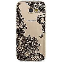 Miagon Galaxy A5 2017 Transparent Handyhülle,Silikon Hülle für Samsung A5 2017, Schön Kreativ Schwarz Blume Muster... preisvergleich bei billige-tabletten.eu