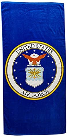 US Air Force Seal Beach Towels (28in x 58in)