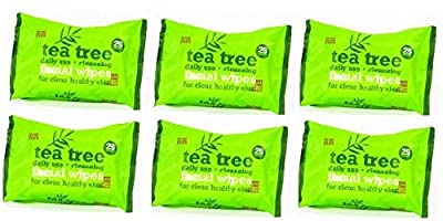 Tea Tree Daily Use Cleansing Facial Face Make Up Wipes (6 x 25 Packs)