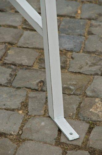 CLP 2 Sitzer / 3 Sitzer Garten Hollywoodschaukel AIMEE, Landhaus-Stil, Metall (Eisen) antik-weiß - 9