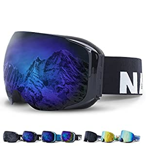 NAKED Optics Skibrille Snowboard Brille für Damen und Herren – Verspiegelt mit Magnet-Wechselsystem – Ski Goggles for Men and Women