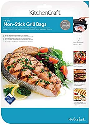 Kitchen Craft Non-Stick Reusable Grill Bags (Pack of 3)