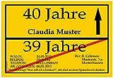 Einladungskarten als Ortsschild Einladung Geburtstag Feier - 40 Stück