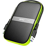 Silicon Power 2TB Armor A60 Shockproof Portable Hard Drive - USB3.0,(Black/Green)