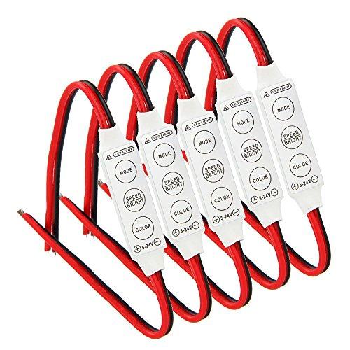 SODIAL 5 X 12V Kabel Steuer Modul Mit Licht Für Auto Oder Haushalt Led Streifen / Birnen
