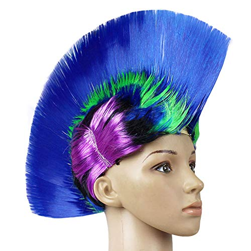 Color Wig, Cosplay Wig, Funny Party Supplies,Blue,01