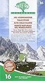 Carta n. 16. Val Vermenagna, Valle Pesio, Alta Valle Ellero, Parco naturale del Marguareis 1:25.000