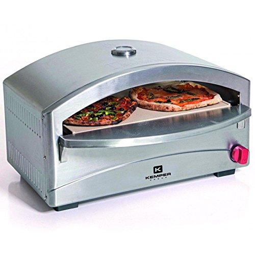 Barbecue Cooking Stone Gas Oven for Single Pizza | 4.8�kW�| 400�C in 5�Minutes�| Piezo Electronic Ignition | Stainless Steel
