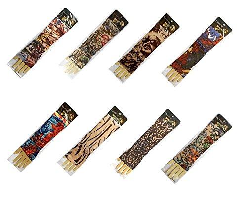 N&B® 2stk. sortiert Tattoo Arm Armstrumpf Tattoo Kostüm das ausgefallene (Maskerade Ausgefallene Masken)