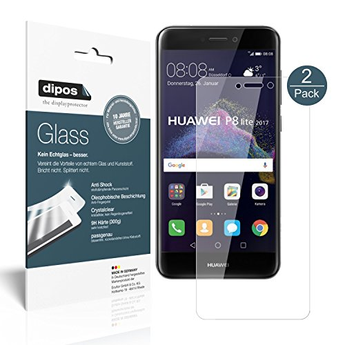 Huawei P8 Lite 2017 Screen Protector - 2x dipos Flexible Glass 9H Display Protection