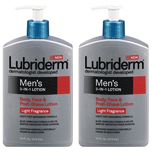 lubriderm-mens-3-in-1-lotion-body-face-and-post-shave-lotion-light-fragrance-16-ounce-pack-of-2-by-l