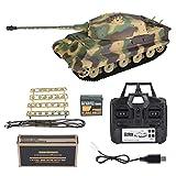Dilwe Fernbedienung Tank Heng Lange 3888A-1 2,4 GHz 1/16 Deutsche König Tiger Henschel RC Modell Panzer Spielzeugauto