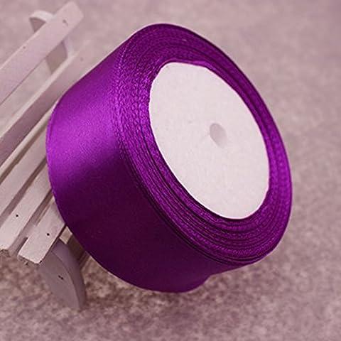 Hochzeit Party Supply DIY Handarbeit Handwerk Recht 25 Yards 1.5, Deep Purple, eine Größe (Velvet Ballon-)