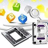 9,5 mm Universal Aluminium SATA zweiten HDD SSD Festplattenlaufwerk Caddy mit 4 Schrauben für CD/DVD-ROM Optische Bay Adapter