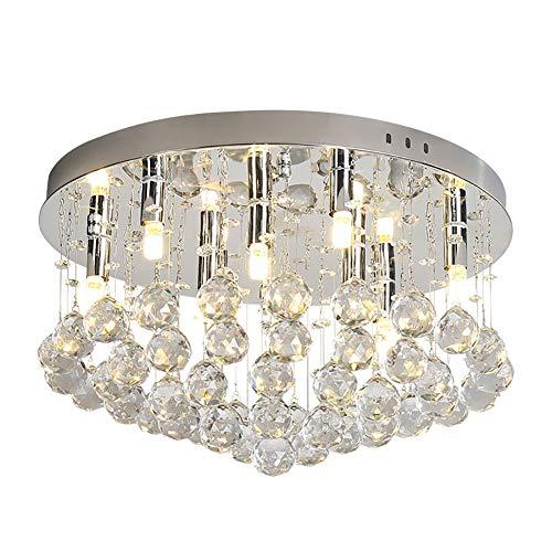 Hauptbeleuchtung führte Kristalldeckenlampe runde Pers5onlichkeitschlafzimmerwohnzimmerdeckenlampe einfache moderne Beleuchtung -