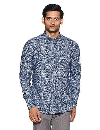 Ed Hardy Men's Casual Shirt (8907378955609_EHSH0654_Small_Navy)