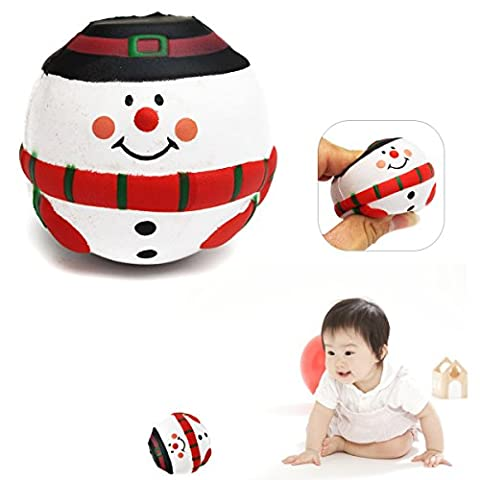 [ Kostenlose Lieferung - 7-12 Tage] Baby Kind Spielzeug PU hohe Elastizität Kugel Entwicklungs Frühe Spaß Educational CartoonSnowman Christmas Decor Geschenke BML® // Baby Kid Toy PU High Elasticity
