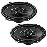 Pioneer TS-A6834I KFZ spezifischer 14,5 x 20,4 cm (6 x 8 Zoll) 4-Wege Koaxial Lautsprecher mit 350W bei 4 Ohm Impedanz schwarz