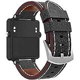 Bracelet à la Mode, fittingran pour Garmin vivoactive Strap, Remplacement Watch Band Sangle en Cuir de Luxe Montre Bracelet pour Garmin vivoactive GPS Smart Watch