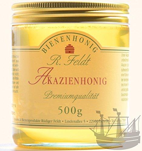 Akazien Honig, lieblich, klar, flüssig, super zum süßen, zum Anrichten von Soßen & Salatsoßen, kaltgeschleudert, ungefiltert, 500g