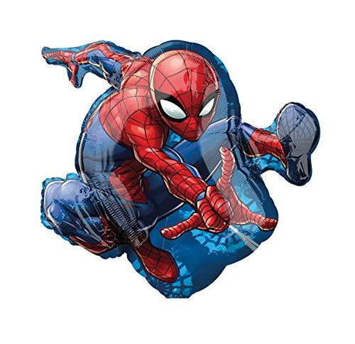 paduTec Ballon XXL Folienballon Luftballon - Spiderman Spider Man - Geburtstag Kindergeburtstag Deko - geeignet zur befüllung mit Luft oder Helium Gas