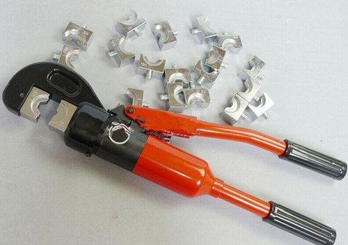 Gowe Outil de compression hydraulique pour AL/CU connecteur Gamme de 16–300 mm² pince à sertir hydraulique pression hydraulique Outil Pince à sertir hydraulique