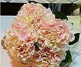 NO:1 künstliche Hortensie Seide Blume Blumenstrauß Dekoration 5 Blumen Rosa