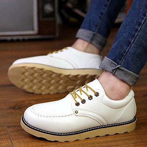 ZXCV Chaussures de plein air Chaussures de sport de plein air pour hommes chaussures de couleur pure pour hommes ( Couleur : Blanc , taille : 41 )