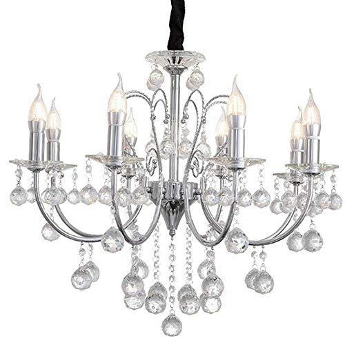 Sxuefang lampadari lampadario lampade in ferro battuto in cristallo di lusso classico lampadario in ferro battuto soggiorno moderno semplice con tre camere da letto con due luci a lume di candela