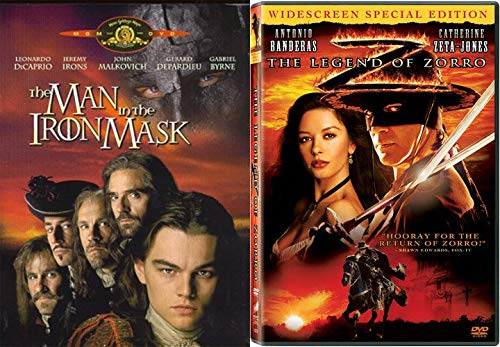 Legendary Heroes 2-Movie Classic Collection - The Man in the Iron Mask & The legend Of Zorro 2-DVD Bundle