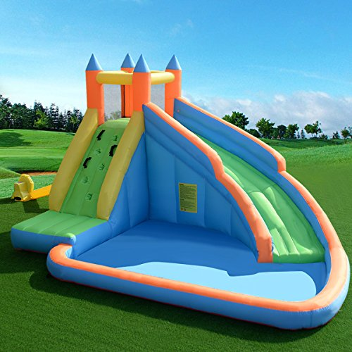 GYMAX Bouncy Castle Large Inflatable Kids Jumper House Water Slide Outdoor