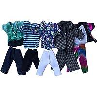 Ken barbie ropa,5pcs Deportivo Verano Fashion Camisas y Pantalones Cortos para Novio Muñeco Barbie Estilo Aleatorio