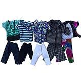 Hemore 5Conjuntos Ken de muñeca para niño Navidad Regalo Moda Casual Porter muñeca–Chaqueta pantalón Ropa Accesorios Hombre Niños de cumpleaños