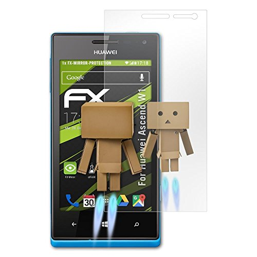 atFolix Displayfolie für Huawei Ascend W1 Spiegelfolie, Spiegeleffekt FX Schutzfolie