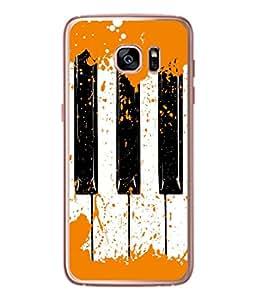 PrintVisa Rust Color On Keys High Gloss Designer Back Case Cover for Samsung Galaxy S7 :: Samsung Galaxy S7 Duos :: Samsung Galaxy S7 G930F G930 G930Fd