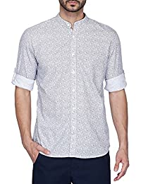 STOP To Start By Shoppers Stop Mens Mao Collar Printed Shirt