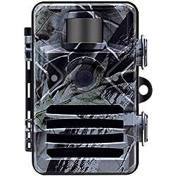 WYYHAA Caméra de Chasse, 16MP 1080P Trail Caméra HD Jeu avec 65Ft Plage De Détection 40Pcs 840Nm Mise À Jour LED IR Nuit Version IP66 Étanche pour La Faune Observation