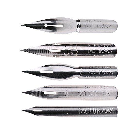 Set de plumillas estilográficas Tachikawa, de MyLifeUNIT, 5 unidades