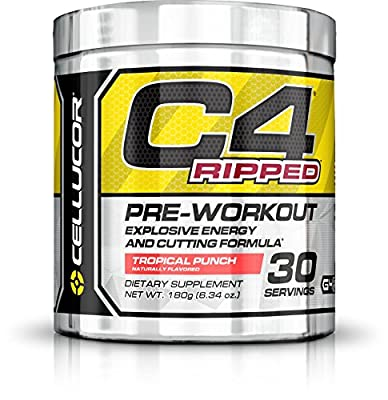 Cellucor - C4 Ripped Premium Pre Workout Powder with Fat Burner Ingredients - 30 Servings (180g) from Nutrabolt