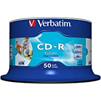 Verbatim CD-R Wide Printable Surface 52 x 700MB CD-Rohlinge 50er Spindel