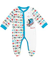 Thomas & Friends Baby Boys Thomas The Tank Engine Sleepsuit Ages 0 Month To 18 Months
