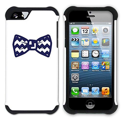 Graphic4You Krawatte Kleidung Männer Mode Design Hart + Weiche Kratzfeste Hülle Case Schale Tasche Schutzhülle für Apple iPhone SE / 5 / 5S Design #3