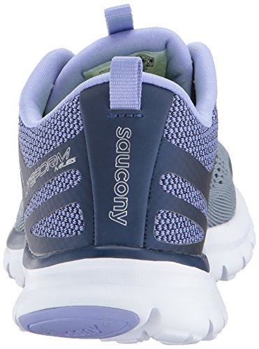 Saucony Womens Miles Sneaker Grey/Purple